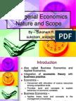 Nature & Scope of Managerial Economics