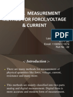 Digital Measurement of Force, Voltage, Current