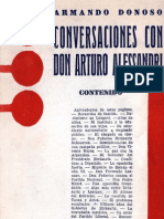 Armando Donoso (Conversaciones con don Arturo Alessandri. anotaciones para una biografía)