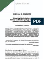 Journal of Historical Sociology Volume 8 Issue 4 1995 [Doi 10.1111%2Fj.1467-6443.1995.Tb00173.x] K. SIVARAMAKRISHNAN -- Situating the Subaltern- History and Anthropology in the Subaltern Studies Project