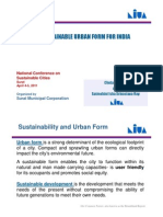 Sustainable Urban Form for India [Compatibility Mode]