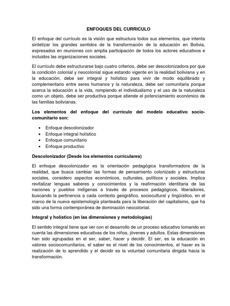Enfoques Del Curriculo Tema 4