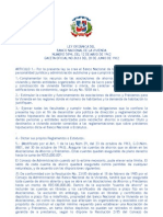Ley Orgánica del Banco Nacional de la Vivienda No. 5894 de 1962