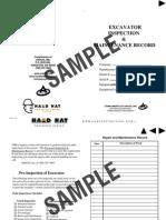 Excavator Inspection Record