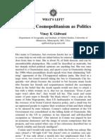 Antipode Volume 38 Issue 1 2006 [Doi 10.1111%2Fj.0066-4812.2006.00562.x] Vinay K Gidwani -- Subaltern Cosmopolitanism as Politics