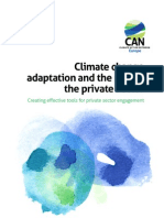 Climate Change Adaptation and the Role of Private Sector- CAN Europe Report April