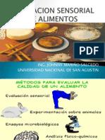 Tema i Evaluacion Sensorial de Alimentos