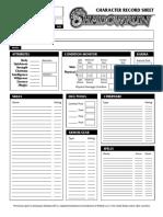 Shadowrun 3rd Edition - Character Sheet