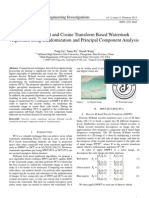 M-band Wavelet and Cosine Transform Based Watermark Algorithm using Randomization and Principal Component Analysis