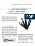 Fabrication of Mini and Micro Dental Implants using Micro