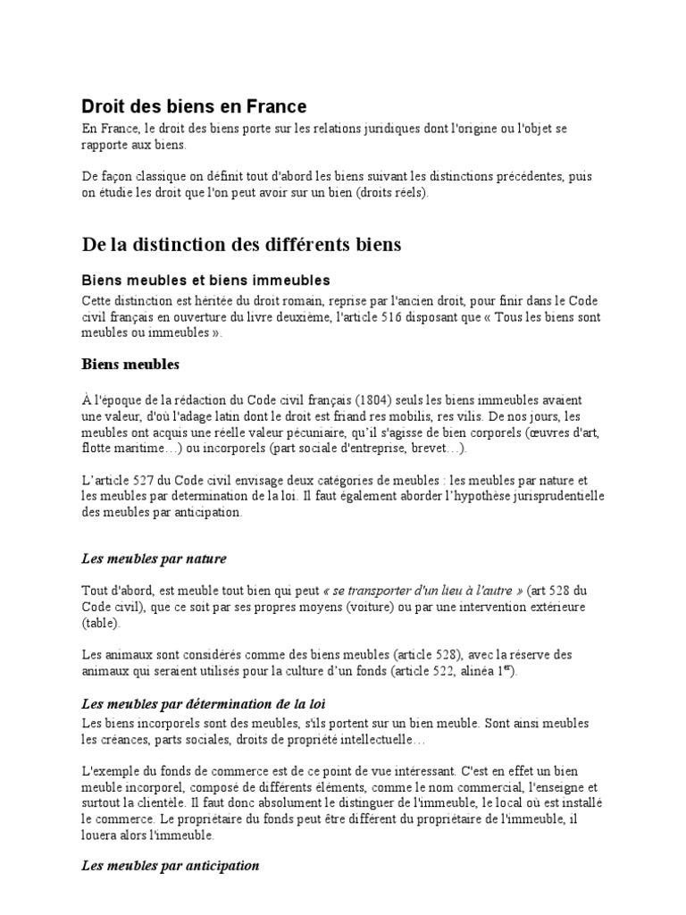 Droit Des Biens Doc