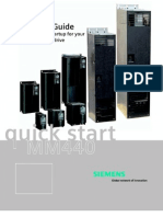 Siemens Mm 440 Quick Start Guide