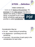 Consideration- Indian Contract Act