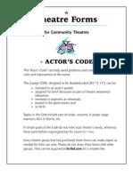 The Actor's Code