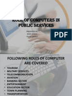 Role of Computers in Public Services