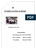 women saving scheme ( Self help group)