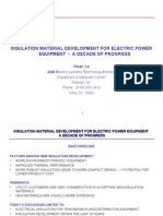 Insulation Material Development of Electric Power Equipment