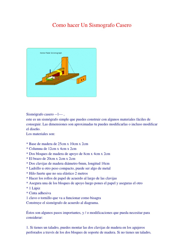 Como hacer un sismografo casero for Como hacer un criadero de peces casero