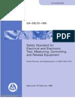 ISA–S82.03–1988-Safety Standard