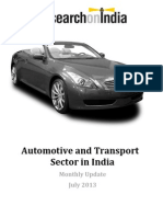 Automotive and Transport Sector in India July 2013