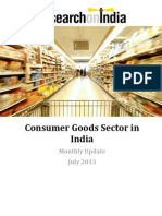 Consumer Goods Sector in India Monthly Update July 2013