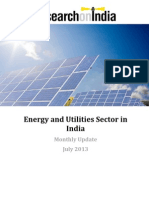 Energy and Utilities Sector in India Monthly Update July 2013