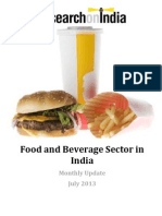 Food and Beverage Sector in India Monthly Update July 2013