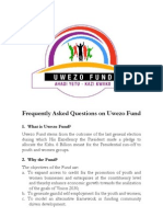 Frequently Asked Questions on Uwezo Fund