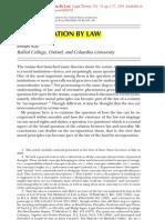 Joseph Raz - Incorporation by Law