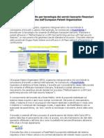 Poste Mobile Brevetto Per Tecnologia Dei Servizi Bancario Finanziari via Telefonino Dall European Patent Organization
