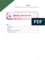 Tutorial Para Crear Wiki en Wetpaint