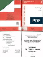 Dino Fioravante Preti Análise de textos orais  1999