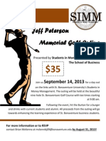 Jeff Peterson Memorial Golf Outing