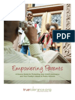 Focus on the Family's guide advising public school parents to foster LGBT misinformation/discrimination