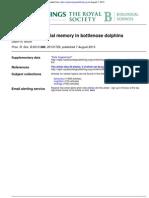 Bruck, JN - Decades-Long Social Memory in Bottlenose Dolphins - Proc. R. Soc. B. 7 August 2013