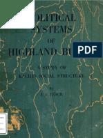 Political Systems of Highland Burma-kachin Structure
