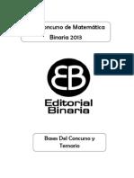 Bases Concurso Binaria 2013