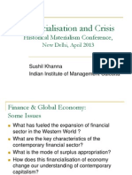 Financialsation & Crisis