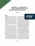 Sexualidad y Homoerotismo en Narrativa Peruana Reciente