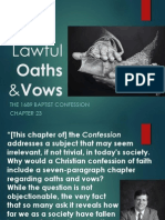 Lawful Oaths and Vows - 1689 Chapter 23