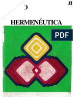 Mito y hermenéutica - El escudo 1973
