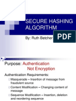 Secure Hashing Algorithm
