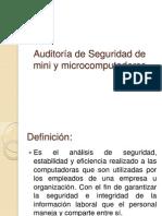 Auditoría de Seguridad de mini y microcomputadoras