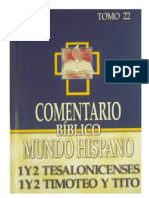 123564225 Comentario Biblico Mundo Hispano Tomo 22 1 y 2 Tes 1 y 2 Tim Tito