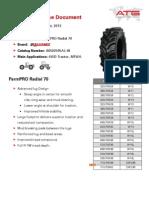 FarmPRO Radial 70 Size- 710:70R42