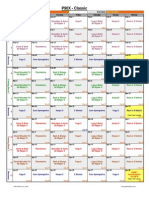 P90X Schedule