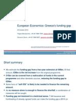 CREDIT SUISSE_European_Economics_Greece's funding gap_Oct2012