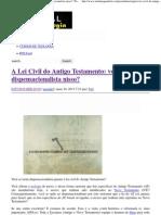 A Lei Civil do Antigo Testamento_ você é dispensacionalista nisso_ _ Portal da Teologia.pdf
