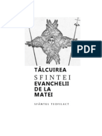 Sf Teofilact Al Bulgariei Talcuire Ev Matei de Cautat