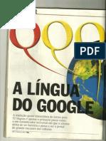 A língua do google